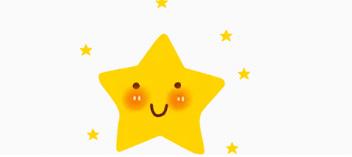 害羞的黄色五角星