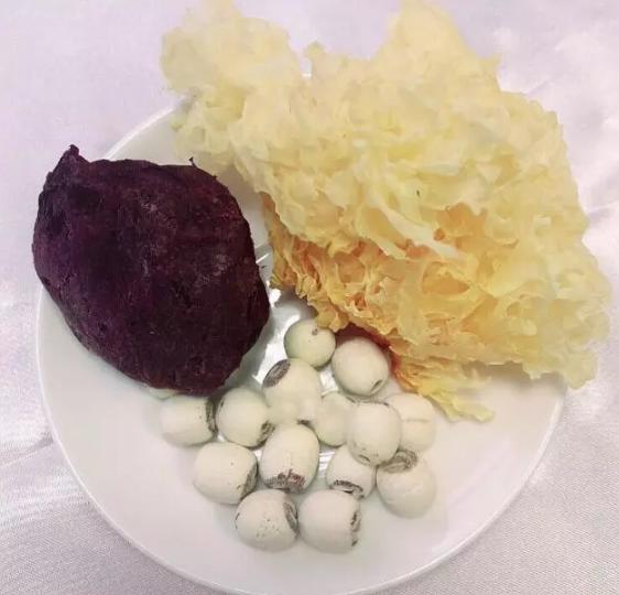 紫薯、银耳、莲子