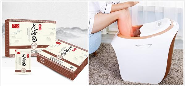 泡脚粉和足浴盆